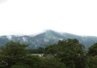Mt Daimonji Shrouded in Late Afternoon Mist