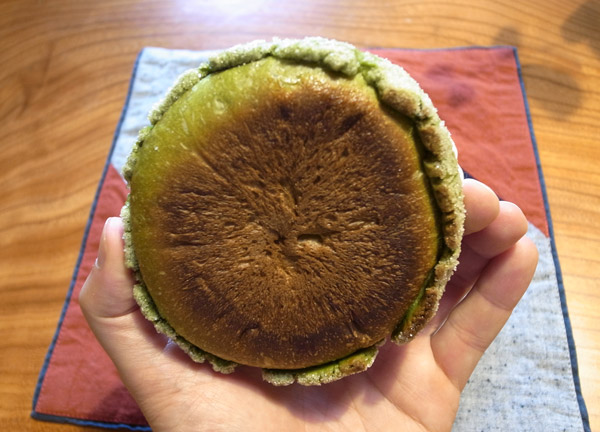 Kyoto Bakery: Oreno Pan&#8217;s Maccha Melon Pan