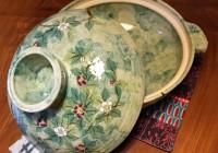Kyoto Ceramics -- New Camellia Motif Donabe Hotpot